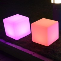 Hot lighting furniture!20*20*20cm plastic LED Bar Table Lamp/LED stool/party chair