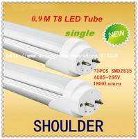 FedEX Freeship Wholesale 3feet 15w T8 led tube lamp light Top quality SMD 2835 Epistar 1800lm CE & ROHS led bulbs tubes15pcs/lot