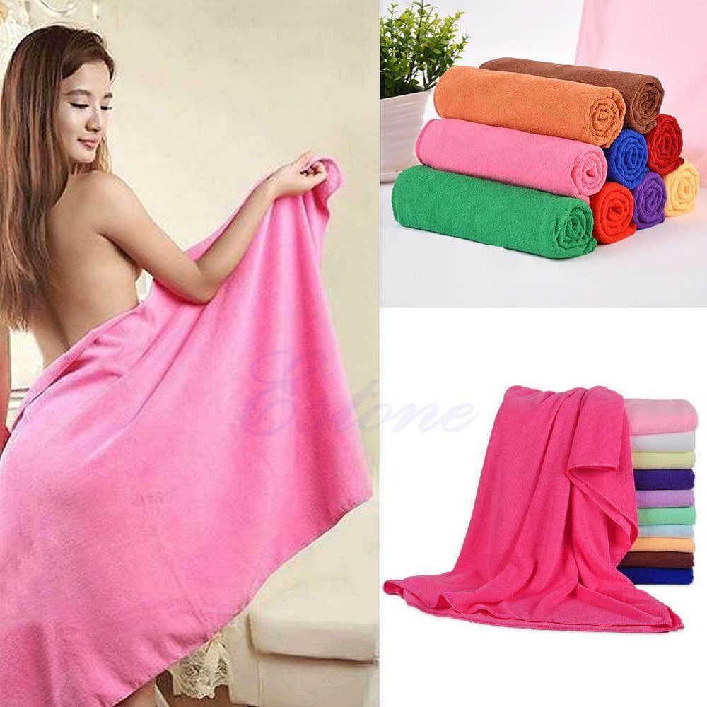 Free Shipping 70x140cm Absorbent Microfiber Bath Beach Towel Drying Washcloth Swimwear Shower(China (Mainland))