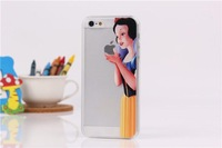 For iphone 5C case Transparent Snow White Hand grasp the logo/expression of rabbit/Mickey/tiger cell phone case  capa celular