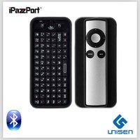 Hot Sale Keyboard iPazzPort computer keyboard  Mini Bluetooth Keyboard For Apple TV Box Remote Free Shipping