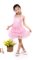 Hot Selling Toddler Girl Leopard Tier Ruffle Dress Infant Baby Frozen Party Lace 3 Layered Party Girl Dresses Free Shipping