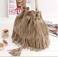 Tassel Shoulder Bag Women's Messenger Bag Handbag Lady  Cross body bag Bolsas Free&Drop Shipping 40002B1021