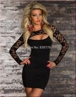 sexy underwear women sexy  lingerie black lace stitching sexy club suit N139 M/L/XL
