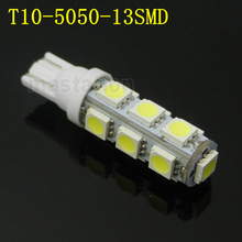 4pcs/lot T10 led 13 LED 5050 SMD Car Light 194 168 192 W5W Wedge External Lamp Bulb 12V CL113(China (Mainland))