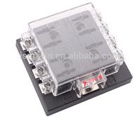 Free shipping 8 Way Terminals Circuit Car Auto Fuse Holder /Box Blade Fuse Box/holder Block  DC32V ATC ATO  Waterproof