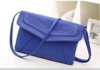 New 2014 HOT All-match Leisure Women messenger bag Leather handbag Envelope Design Cross body bag Free&Drop shipping