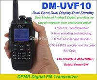 DM-UVF10 DPMR Digital Dual Band 136-174MHz & 400-470MHz 5W 256CH  2-TONE 5-TONE 1750Hz Tone Scrambler Portable Two-way Radio
