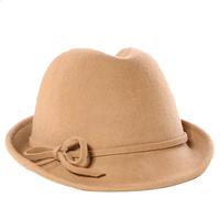 Wholesale 6pcs Mix Cheap Women Winter Wool Fedora Caps Special Ladies Autumn Wool Felt Fedoras Hats Style Womens Hat Trilby Cap