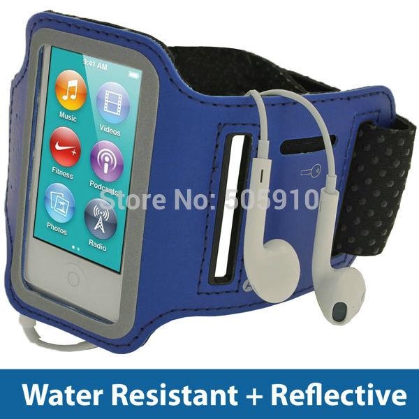 Free shipping High Quality BLUE Anti-Slip Sports Jogging Armband for Apple iPod Nano7 7th Generation Waterproof Running Armband(China (Mainland))