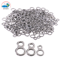 Free shipping, 2pack 20 fishing iron plate 8 words connecting ring -3 size, 304 stainless steel material. High quality bait shop