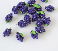 resin grape pendant,  resin beads pendant fruits Vegetables DIY jewelry findings, food jewelry miniature food