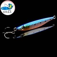 Free shipping, 5pcs  / fishing at sea iron plate / lead small fish / luminous bait / false bait. High quality bait shop