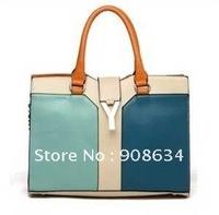 High Quality Y Letter PU Leather Women Hobo Clutch Handbag Shoulder Sling Tote Satchel Bag