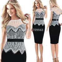 new Summer european  STYLISH AND elegant   Women's Vintage  daily Dress