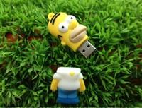 AC209 Toy Homer J.simpson Cartoon model usb 2.0 memory flash card pen drives memory Stick 4GB 8GB 16GB 32GB