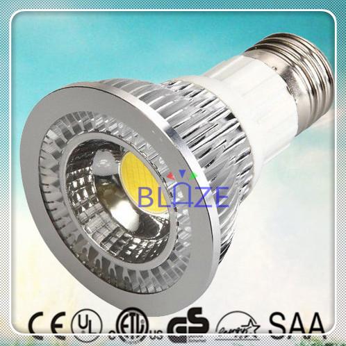10pcs/Lot 7W COB LED PAR20 Light Bulbs E27 Spotlights Non Dimmable 3000K Warm White PAR Lighting(China (Mainland))