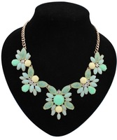 Min Order $10,New 2014 Vintage Fashion Statement Necklaces for Women,Exaggerated vintage fashion flower leaf necklaces,N20