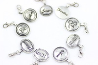 100pcs/lot mix design DIY Lobster clasp pendant floating locket charms , key chain pendant charms