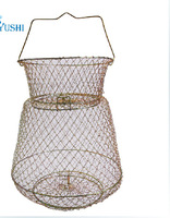 fish cage net cage 40 * 80 Fishing cage nets Spring steel wire folding shrimp nets