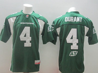 Wholesale 2014 CFL Saskatchewan #4 Roughriders DURANT green White Canada Football League Jerseys For Men ,Size M-XXXL