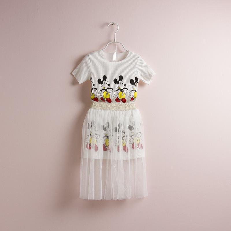 5set/lot Nova Ver?o 2014 Roupa das Crian?as Conjuntos saia da menina ternos roupa dos miúdos Minnie Moda Casual Clothes(China (Mainland))