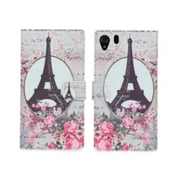 2014 New Retro Paris Eiffel Tower Leather Flip Case For Xperia Z1 L39H Phone Cases Wallet Stand Cover