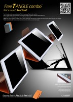 Free T Angle Combo Protective Shell/skin/case for apple ipad air