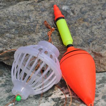 Новое прибытие толстолобик рыбалка Поплавок Поплавок Морское чудовище с углеродистой стали шесть сильных взрыва Крючки рыболовные снасти указан