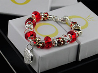 B039Chamilia Bracelet 925 Tibetan Silver Murano Glass For Women Fashion European