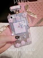 2014 3D Bling Rhinestone Perfume Bottle Flower Handbag TPU Mobile phone Case for iPhone 4/5 Samsung S3/S4/S5/Note2/Note3 Case