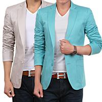 Fashion Spring Autumn Solid Color Slim Fit Non Iron Men Casual Suit Large Size Blazer Man 3XL 4XL Brand Coat