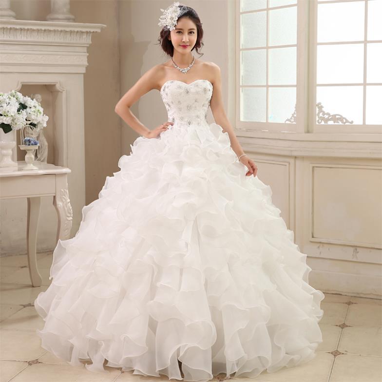Strapless wedding dresses with diamonds
