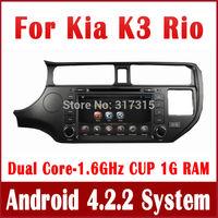 Android 4.2 PC Car DVD Player for Kia K3 Rio 2011 2012 w/ GPS Navigation Radio TV BT USB CD AUX DVR 3G WIFI Stereo Tape Recorder