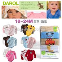 Carter's 5pcs 3-24M Long Sleeve Bodysuits  Cotton Toddler's Jumpsuits Newborn Bebe Baby Suit Carters Rompers Boy Girl