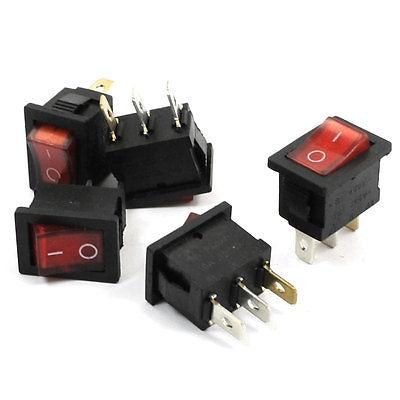 Кулисный переключатель Switch 5PCS AC 250V/6A 125V/10 3 SPST кулисный переключатель switch 10 x spst 2 2 250v 16a ac 125v 20a
