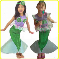 princess mermaid tail dress halloween costumes for children kids anime cosplay costume party fancy dresses