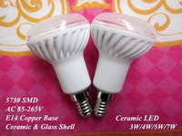 6 pcs Ceramic E14 / not E27 LED bulb lamp light 110-240V 3W 4W 5W 7W 5730 SMD cold / warm white R50