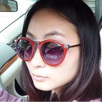 Free Shipping 2014 New Male and Female Models Sunglasses Fashion Metal Round Frame Sunglasses Big-framed Glasses #B-196