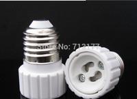 LED E27 to GU10 Ceramics Base Adapter Converter light screw socket lamp base GU10 lamp LED conversion head 50pcs/lot