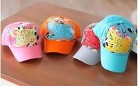 free shipping 0-3 yearsold new design Children letter Jean baseball cap fashion Children's hat spring summer and autumn