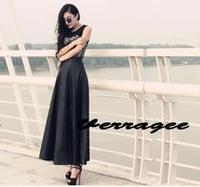 New Women's Leather Long Skirt High Waist A-line, Fashion PU Leather Maxi Skirts Black S--5XL Plus Size Beautiful  #JM06886