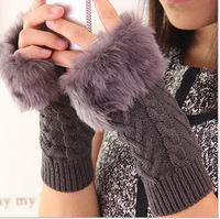 Generous Skin care Fingerless arm warmers gloves Fashion Lady's winter glovs Free shipping