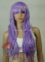 Royal Purple Curly Wavy Long Cosplay Wig - 28 inch High Temp - CosplayDNA Wigs