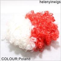 cheap festival party wigs Poland color party wigs afro clown