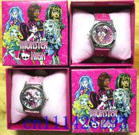 Lots 5pcs Kids like Monster High WRIST WATCH BOXED GIRLS CHINA SELLER FREE SHIPPING