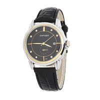 New CAFUER Brand Men Quartz Business Watch,Men Military Movement Calendar Leather Watch