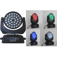 Professional 36*10w zoom led moving head RGBW 4 in 1 wash light DMX 17channels for Disco Club, 2pcs via DHL Free Shipping