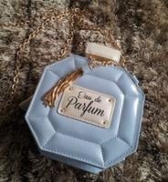 Women handbag women messenger bags famous Luxury Perfume Bottles chain Eau De Parfum PU leather shoulder bags 3 colors Freeship
