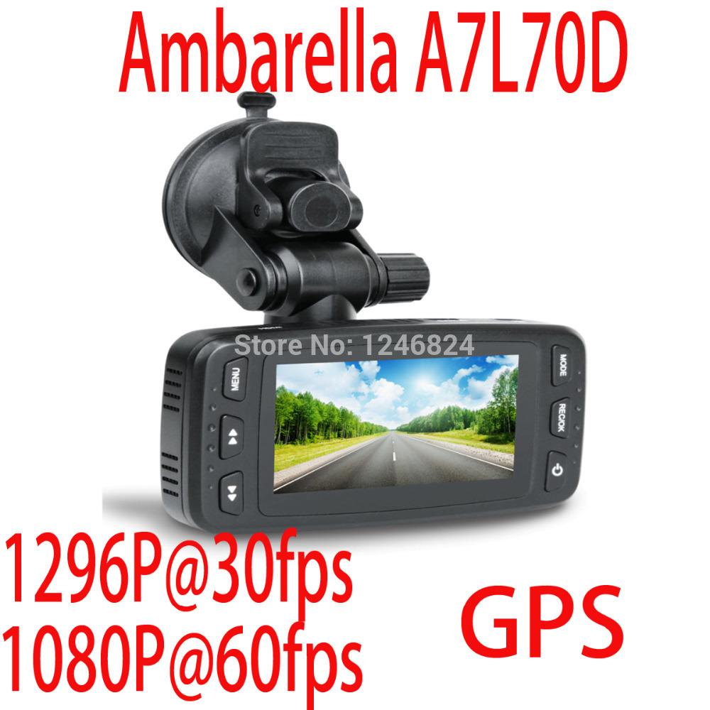 DX100 Car DVR Vehicle Camera Ambarella A7 1296P@30fps 170 Degree GPS Driving Recorder G-sensor H.264 Motion Detection LDWS(China (Mainland))